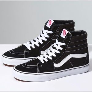 Vans High Top SK8-Hi sz 8, like new, black